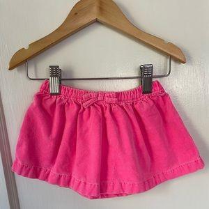 Bright pink baby skirt